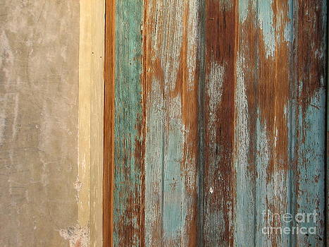 Old painted door by Marie-Pierre Sabga