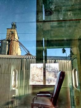 Old Rail Cars Reflection by Dustin Soph