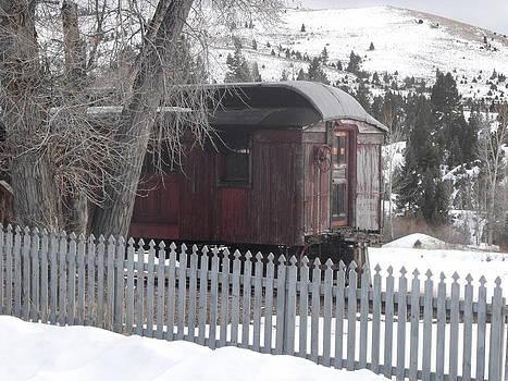 Old Railroad Car by Yvette Pichette