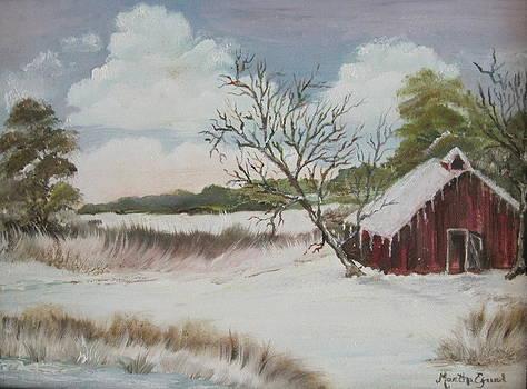 Old Red Barn by Martha Efurd
