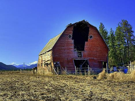 Old red barn by Vivian Markham