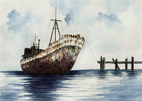 Old Rusty Ship by Michael Vigliotti