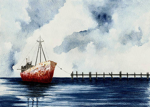 Old Rusty Ship Number 2 by Michael Vigliotti