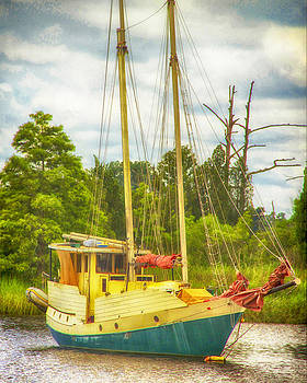 Old Sail Boat by Julie Underwood