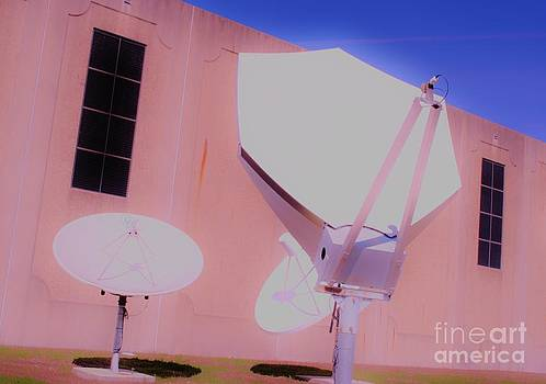 Old Satellite Dishes Texas AM by Chuck Taylor