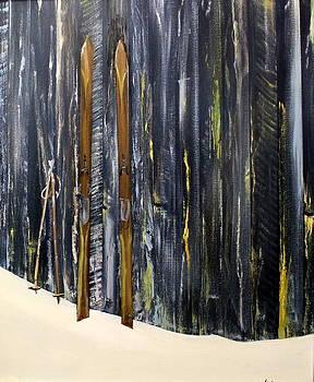 Old Skiis by Ken Ahlering