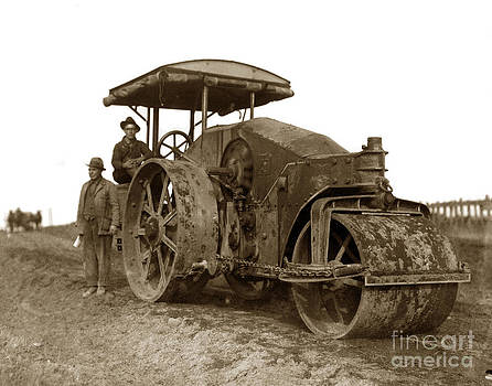 California Views Mr Pat Hathaway Archives - Old Steam Roller road construction Circa 1920