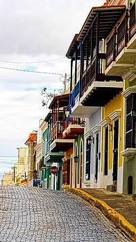 Sandra Pena de Ortiz - Old Street at Old San Juan
