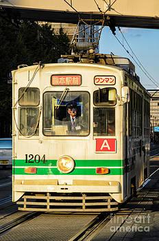 David Hill - Old streetcar in Kumamoto - Kyushu - Japan