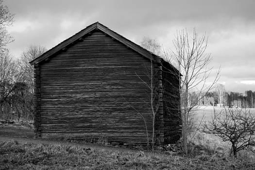 Old Swedish House B/W by Fredrik Ryden