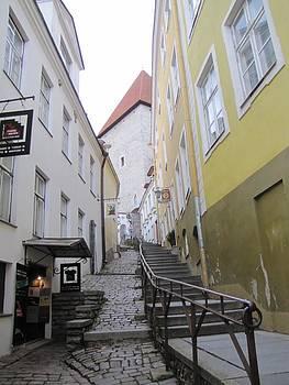 Old Tallinn street by Barbara Chachibaya