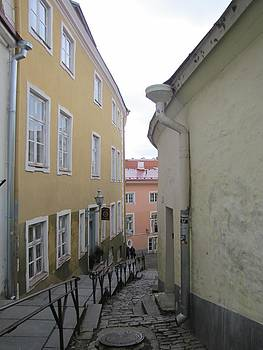 Old Tallinn street view by Barbara Chachibaya