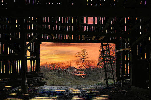 Old Timers Sunset by William Griffin