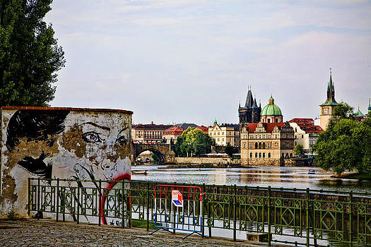 Old Town in Prague from Mala Strana by Joanna Madloch