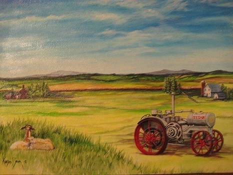 Old Tractor by Kendra Sorum