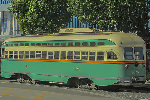 Old Trolley Car by James Canning