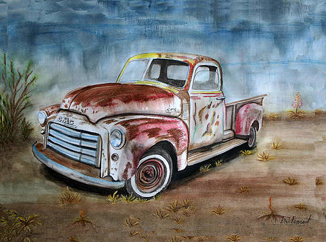 Old Truck with character 2 by L J Penrod