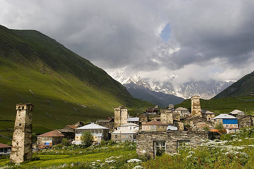 old village of Ushguli UNESCO world heritage sight Svanetia Georgia by Sarit Saliman