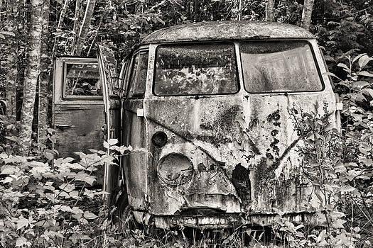Peggy Collins - Old Volkswagen Van Black and White