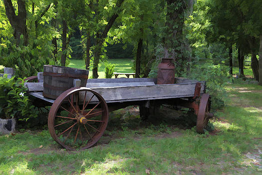 Old Wagon digitally painted by Teresa Moore