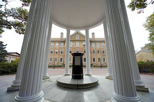 Old Well and South Building - UNC  by Matt Plyler