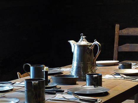 Old West Table Setting by Marcia Socolik