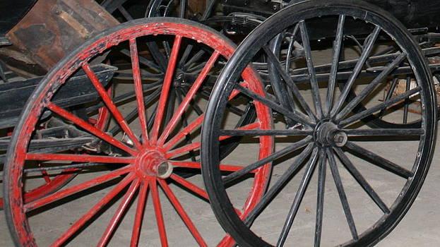 Old Wheels by Bernadette Amedee
