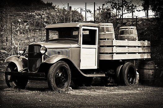 Old Wine Truck Malibu by Rollie Robles