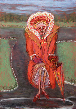 Old woman in park by Paul Daly