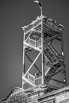 Ian Monk - Old Wooden Watchtower Key West - Black and White