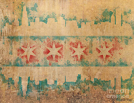 Old World Chicago Flag by Mike Maher