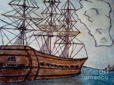 Old World Ship  by Neil Stuart Coffey