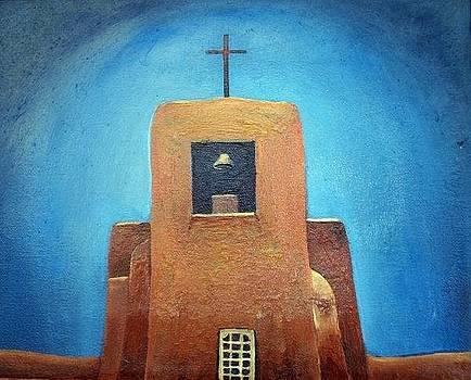 Oldest Church In Santa Fe 2 by Deliara Yesieva