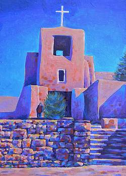 Oldest Church In Santa Fe by Deliara Yesieva