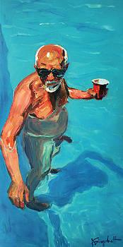 Oldman with a drink by Alexei Biryukoff