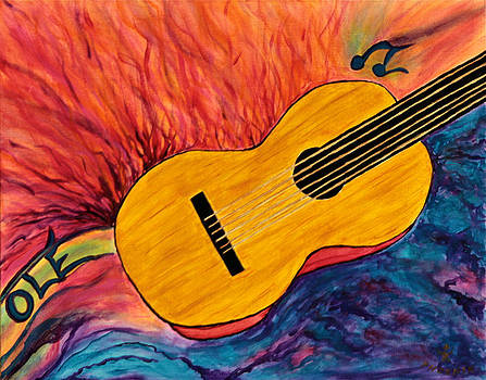 Ole Guitar by Phoenix The Moody Artist