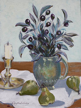 Olives and Green Pears by Winifred Lesley