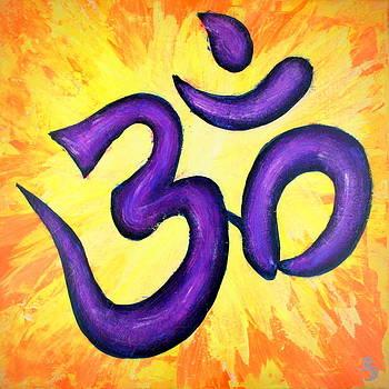 Om Symbol Art Painting by Bob Baker