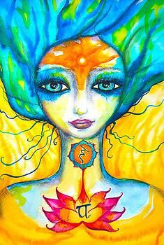 OM yellow Mermaid by Marley Art