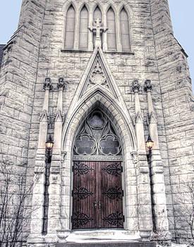 Omaha - Trinity Cathedral Door by Andrea Kelley