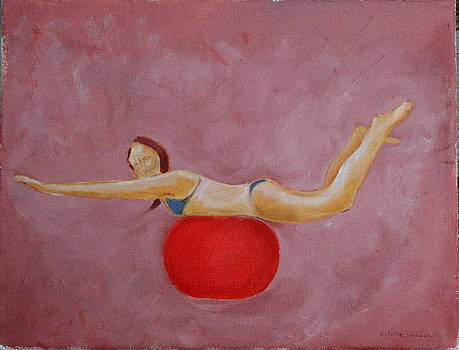 Victoria Sheridan - On a red ball