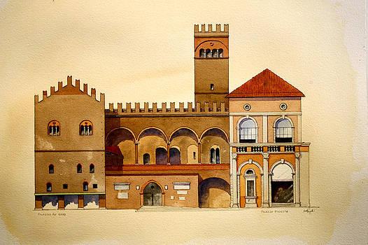 on Piazza Maggiore by William Renzulli