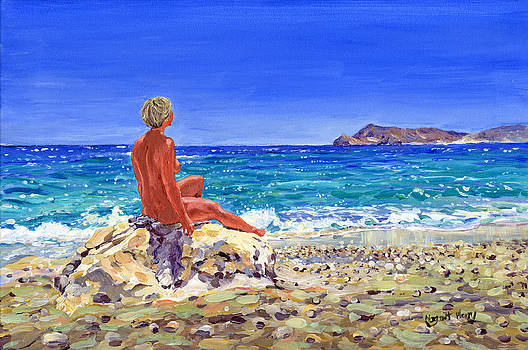 On the beach at San Pedro by Margaret Merry