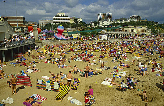 On the beach Bournemouth UK. by David Davies