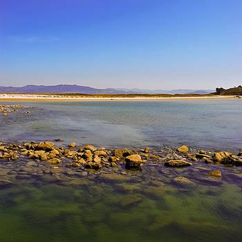 On the Cies Islands off Vigo in Spain by John Magnet Bell