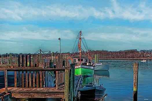 On the Dockside Bristol Rhode Island by Tom Prendergast