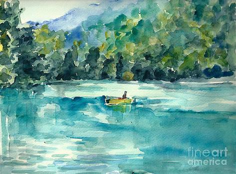 On the lake by Toshiko Tanimoto