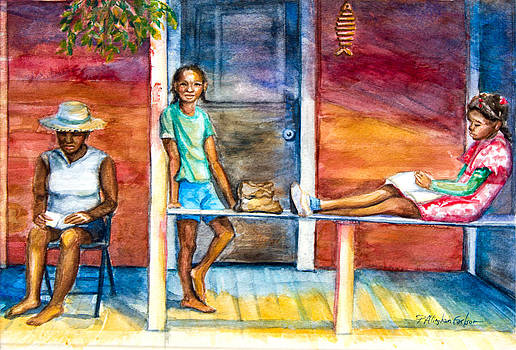 On the Porch by Patricia Allingham Carlson