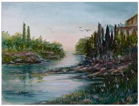 On The River After Sunset by Laila Awad Jamaleldin