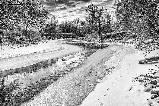 On the Riverbank BW by Garvin Hunter